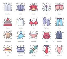 Cloth and Fashion Accessories vector