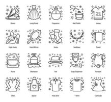 Cloth Accessories and Garments vector