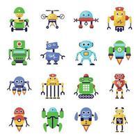 robots y maquinas vector