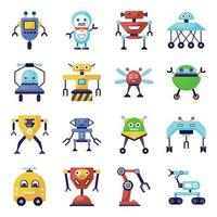 Trendy Robots and Technology vector