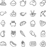 Breakfast and Food Items vector