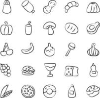 Vegetables, Fruits and Food vector