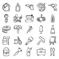 Painting and Sewing Accessories vector