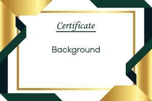 Elegante plantilla de vector de certificado de fondo de oro blanco