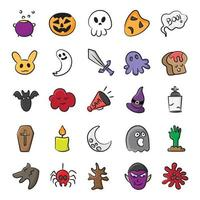 Scary Party and Accessories vector