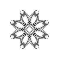 diseño decorativo mandala fondo aislado vector