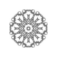 hermoso diseño mandala fondo aislado vector