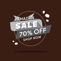 Oferta de venta de Ramadán diseño de banner con abstrak, cartel de promoción, cupón, descuento, etiqueta, tarjeta de felicitación de Ramadán Kareem vector