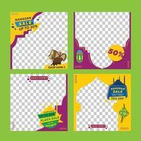 Editable templates for instagram post, sale promotion, gift, Trendy background design bundle for social media vector