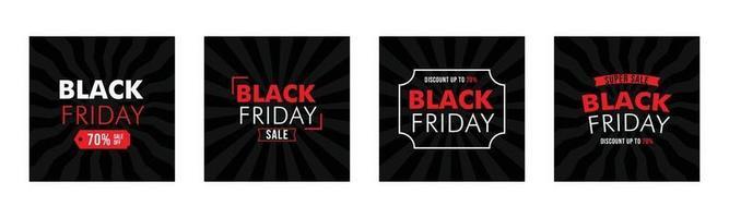 conjunto de banner de venta de viernes negro vector