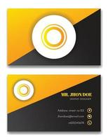 elegant black and orange business card vector template