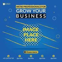 Business marketing social media flyer vector