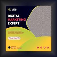Corporate digital marketing flyer modern abstract professional design vector