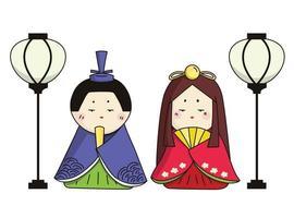 Japanese traditional Girls' Day, Hinamatsuri vector