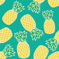 Seamless tropical pattern with pineapples. Vector illustration.