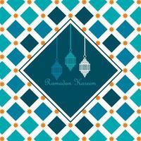 Ramadan Kareem background with lanterns. Vector illustration.