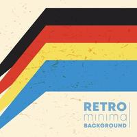 Vintage color stripes background with retro grunge texture. Vector illustration