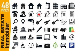 Signage Pictograms for the Real Estate Industry vector