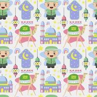 Islamic seamless pattern for ramadan vector