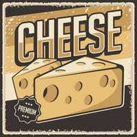Retro Vintage Cheese Poster Sign