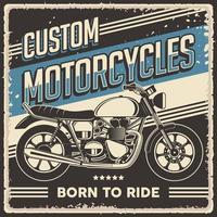 cartel de motocicleta clásica vintage retro vector