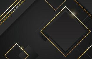 elegante fondo negro y dorado vector