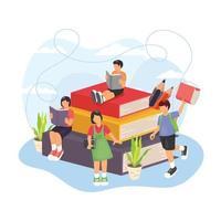 diseño de concepto de regreso a la escuela para niños vector