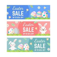 Easter Sale BannerCollection in Flat Design vector