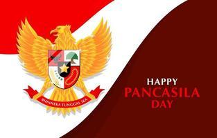 Happy Pancasila Day Background vector