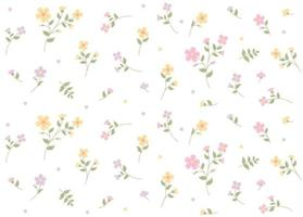 Small romantic floral pattern. Simple pattern design template. vector