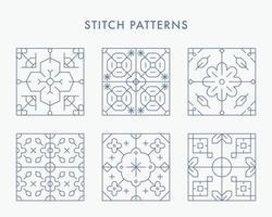 hermoso patrón de mosaico. plantilla de diseño de patrón simple. vector