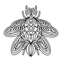 Ilustración de libro para colorear lineal de escarabajo barbo alpino vector