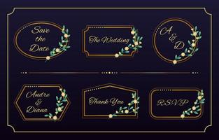 Wedding Monogram Templates Collection vector