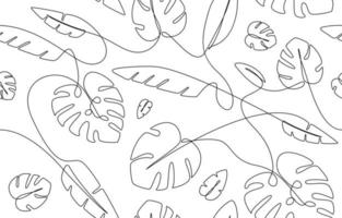 Tropical Leaves Seamless Background vector