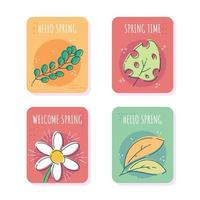 Hand Drawn Spring Card vector