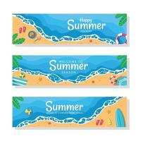 Summer Season Banner Set vector