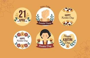 Woman Empowerment During Kartini Day Sticker vector