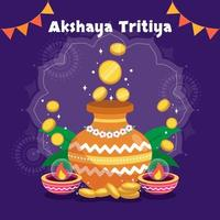 Large Pot and Candles Full of Donated Coins vector