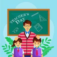Happy Teacher's Day Celebration vector