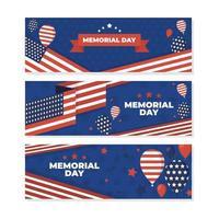 USA Memorial Day Banner Set vector