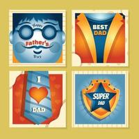 Father's Day Card Template vector