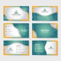 plantilla de tarjeta de visita con formas geométricas
