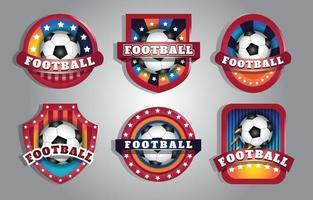 Football Badge Sticker Set vector