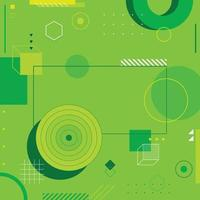 Abstract Flat Green Geometric Background vector