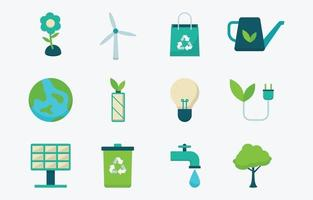 Earth Day Icon Collection vector