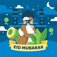 Eid Mubarak Greeting Design vector