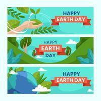banner para el día de la tierra vector