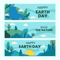 Earth Day Banner Concept vector