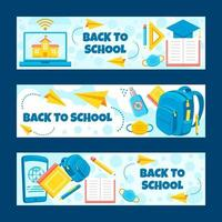 Colorful School Banner Collection vector