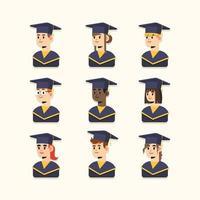 icono de graduación universitaria minimalista vector